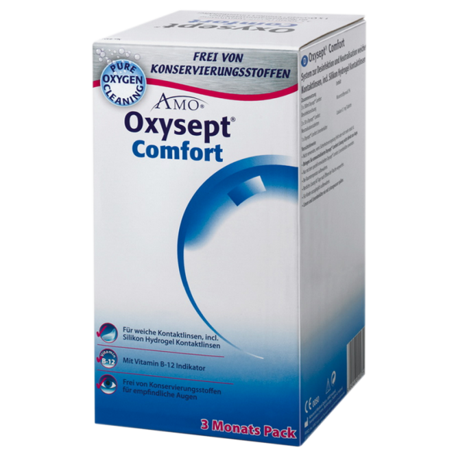 pflegemittel oxysept comfort b12 3x300ml 90. Black Bedroom Furniture Sets. Home Design Ideas