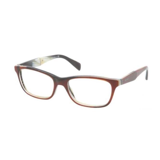 Prada PR 14PV - EAP1O1 55-17 Striped Brown Horn