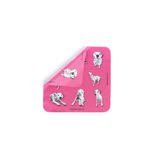 Microfasertuch Pink mit Dalmatiner - 1 x 3