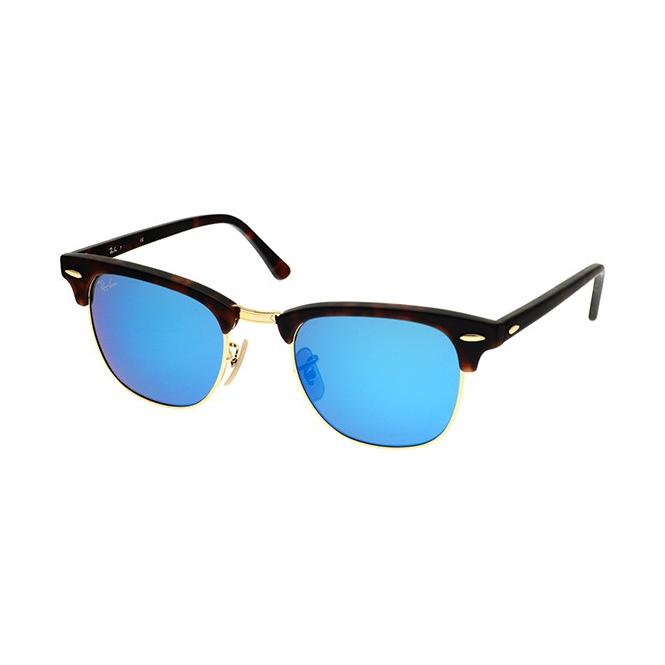 grey ray ban clubmaster  Sunglasses - Ray-Ban Clubmaster RB3016 - 114517 Grey Mirror Blue ...