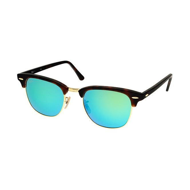 Ray-Ban Clubmaster RB3016 - 114519 Grey Mirror Green 51-21