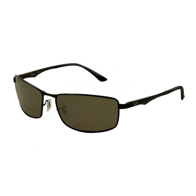 Ray-Ban RB3498 - 002-71 Black / Green 61-17