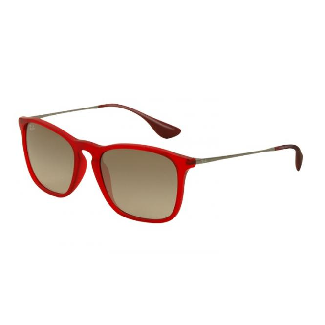 Ray-Ban Chris RB4187 - 898-11 Rubber Transp. Red 54-18