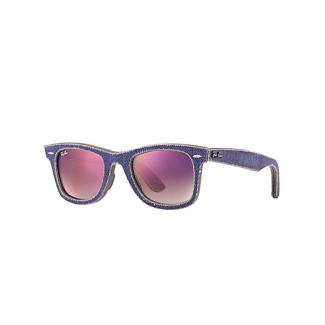 Ray-Ban ORIGINAL WAYFARER 50-22 RB2140 1167S5 Clear Faded Violet