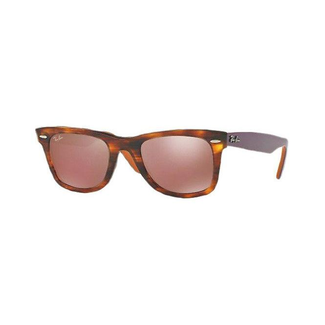 Ray-Ban ORIGINAL WAYFARER 50-22 RB2140 11772K Brown Mirror Dark Red