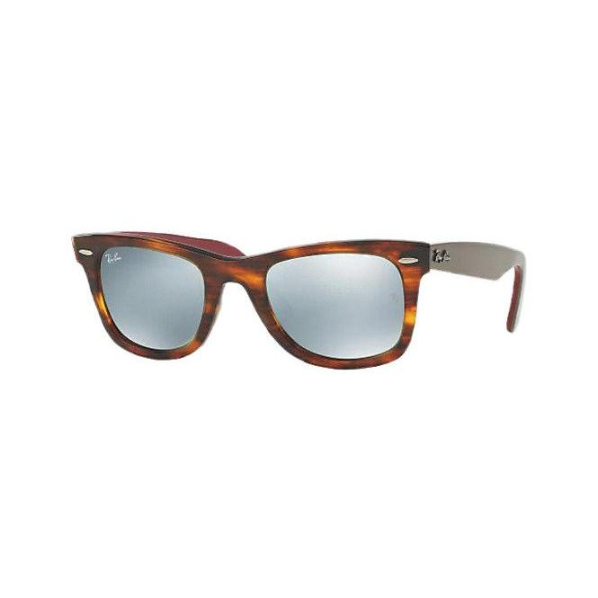 Ray-Ban ORIGINAL WAYFARER 54-22 RB2140 117830 Green Mirror Silver