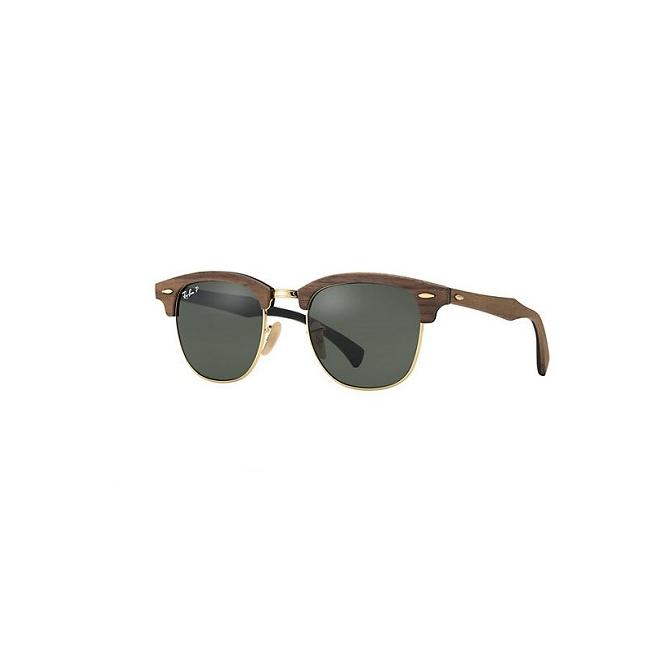 Ray-Ban Clubmaster RB3016M - 118158 Polarized Wood Special Edition