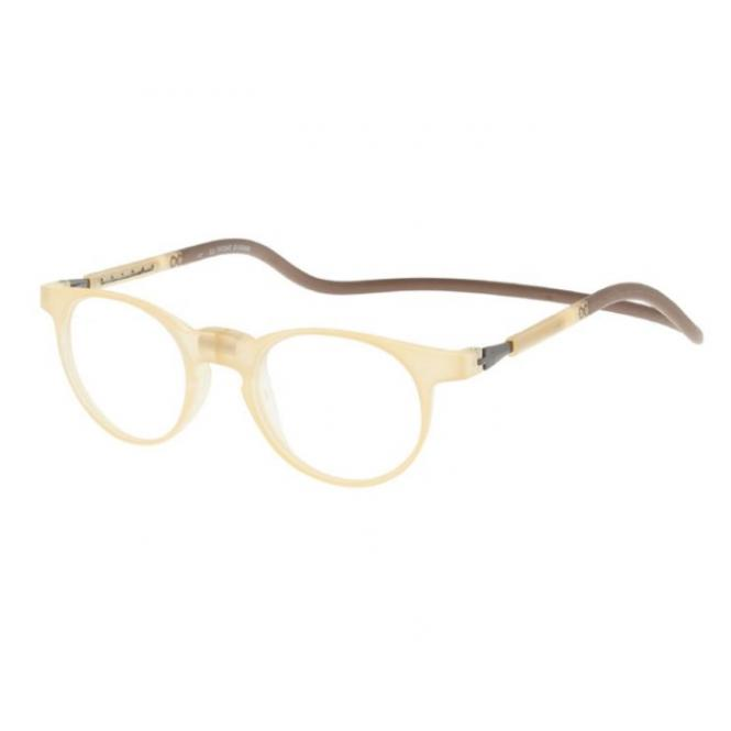 Click Slastik Soho Magnet Lesebrille - Clear Brown 001