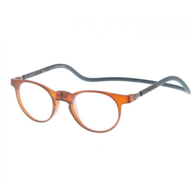 Click Slastik Soho Magnet Lesebrille - Brown 003
