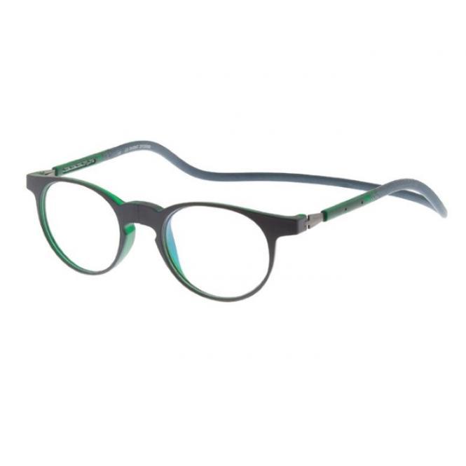 Click Slastik Soho Magnet Lesebrille - Dark Green 006