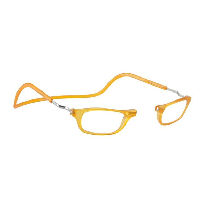 Clic Magnet Lesebrille Frosted XL-CRFROR Yellow