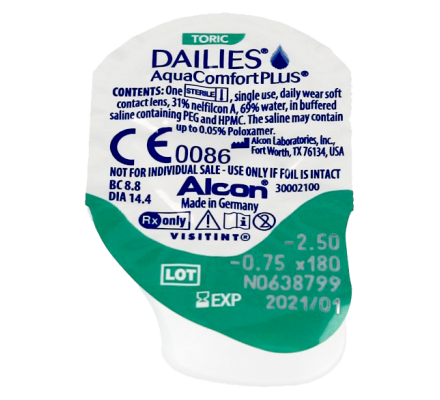 Dailies AquaComfort Plus Toric - 30 Tageslinsen