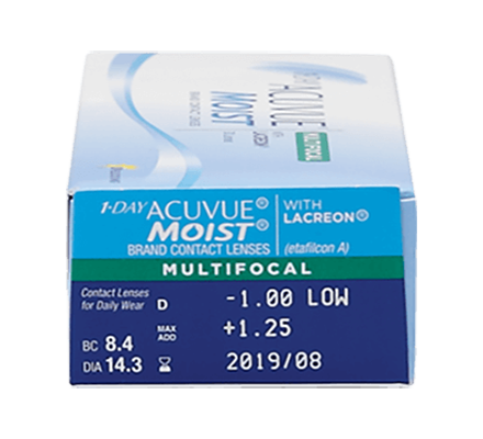 1-Day Acuvue Moist Multifocal - 90 Tageslinsen