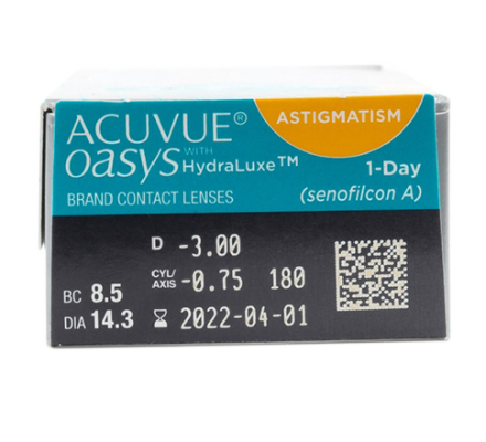 1-Day Acuvue Oasys for Astigmatism - 30 Tageslinsen