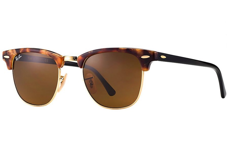 Ray-Ban Clubmaster RB3016 - 1160 51-21 mottled with brown