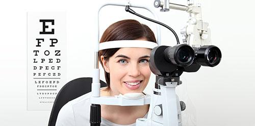 Augentest mit Spaltlampe